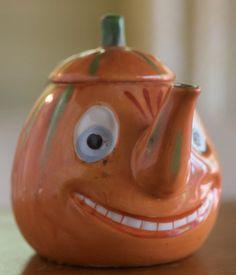 Vintage German Halloween JackOLantern tea pot!