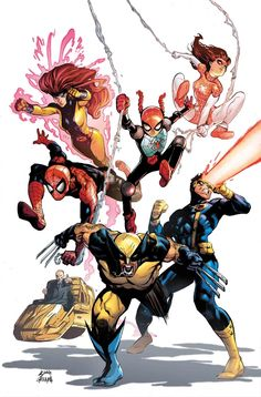AMAZING SPIDER-MAN: RENEW YOUR VOWS #6 GERRY CONWAY (w) • RYAN STEGMAN (a/C) RESURRXION VARIANT COVER BY ED McGUINNESS • And now…the X-Men! • Annie just received an invitation to attend Xavier's School for Gifted Youngsters. • Guest-Starring Wolverine, Cyclops, Jean Grey, and Professor X!