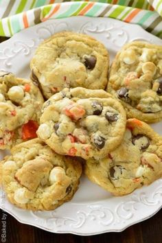 Coconut Mango Chocolate Chip Cookies - Perfectly soft and thick cookies loaded with dried mango, coconut, white and dark chocolate chips. One of best flavor combinations ever! They're great fresh from the oven or for breakfast.