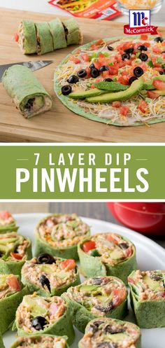 New party snacks appetizers sour cream ideas Pinwheel Appetizers, Pinwheel Recipes, Finger Food Appetizers, Appetizers For Party, Finger Foods, Appetizer Recipes, Healthy Appetizers, Pinwheel Wraps, Lunches