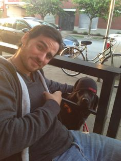 Twitter / @colinodonoghue1: Me and Bucks chillin' on the eve of Season 3!!!