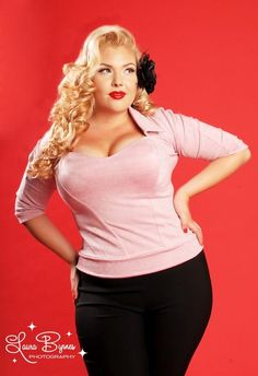 Jeanie Lurex Top in Baby Pink by Pinup Couture... < Yeah i kinda need it!