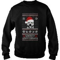 Ugly Christmas sweater for Pitbull lover