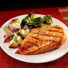 Smoky Paprika Chicken... A succulent grilled chicken breast recipe with a smoky paprika garlic rub. Add grilled broccoli and a simple grill-top potato salad