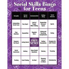 Social Skills Bingo For Teens Best Seller! Group Activities For Teens, Counseling Activities, Anxiety Activities, Social Skills Activities, Educational Games For Teens, School Counseling, Social Skills Games, Social Skills Lessons, Social Skills Autism