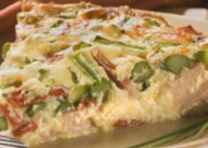 Canadian Bacon, Asparagus and Smoked Gouda Crustless Quiche
