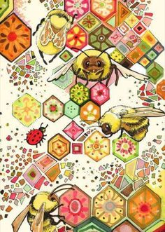 Bees Of Confusion Art Print by Christina Siravo I Love Bees, Bee Art, Bee Crafts, Bee Theme, Bee Happy, Save The Bees, Bees Knees, Queen Bees, Bee Keeping