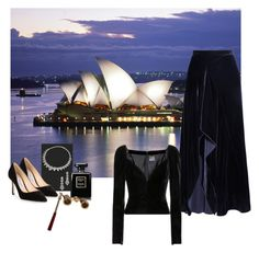"""""""Crushing on Velvet"""" by alara-cary ❤ liked on Polyvore featuring Roland Mouret, Yves Saint Laurent, Jimmy Choo, Chanel and velvet"""