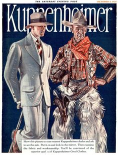Kuppenheimer: Good Clothes - Pulp Covers 1925