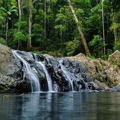 Where do you go when it's too rainy for the beach? Inland of course to the waterfalls! #thisisqueensland by @karlblack