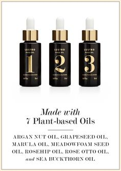 Made with 7 plant-based oils: Argan Oil, Grapeseed Oil, Marula Oil, Meadowfoam Seed Oil, Rosehip Oil, Rose Otto Oil & Sea Buckthorn Oil. Magical Mix! www.jeniskra.beautycounter.com