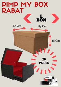 Giant Shoe Box … 25 + › Giant Shoe Box … The post 25 + › Giant Shoe Box … appeared first on Home Dekoration. Diy House Projects, Furniture Projects, Wood Projects, Diy Furniture, Diy Projects With Shoe Boxes, Craft Projects, Craft Storage Box, Diy Storage, Storage Boxes
