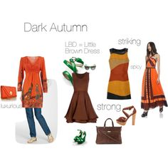 Dark Autumn - an exercise, created by silverwild on Polyvore