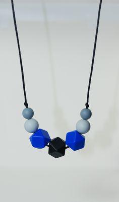 Collier de dentition perles silicone Royal Blue : Collier par dans-les-etoiles