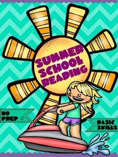 Summer school is a great time for kids to develop basic reading skills needed for kindergarten and first grade.  This NO Prep summer school pack will help you prepare for summer school easily and fast.  It also  gets the kiddos ready for the new school year.