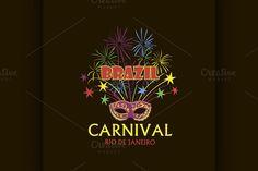 Brazilian Carnival logo and emblem by Netkoff on @creativemarket