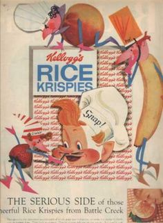 Snap, crackle and Pop Retro Ads, Vintage Advertisements, Vintage Ads, Vintage Items, Vintage Food, Make A Girl Laugh, Ice Cream Candy, 4th Of July Party, Old Ads