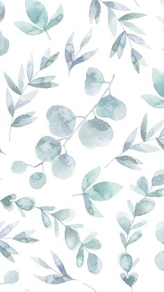 Cute Patterns Wallpaper, Aesthetic Pastel Wallpaper, Aesthetic Wallpapers, Watercolor Wallpaper, Watercolor Leaves, Simple Wallpapers, Pretty Wallpapers, Iphone Wallpapers, Cute Wallpaper Backgrounds