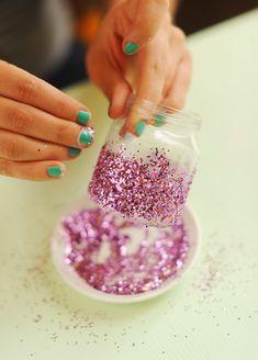 Glitter ball jars
