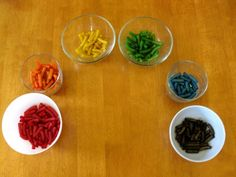Make Rainbow Pasta for necklaces and sorting... along with a rainbow birthday party
