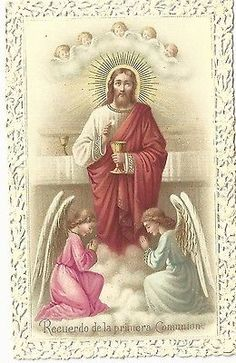 Estampa de Puntilla Canivet Primera Comunion Heiligenbild Santino Holy Card | eBay