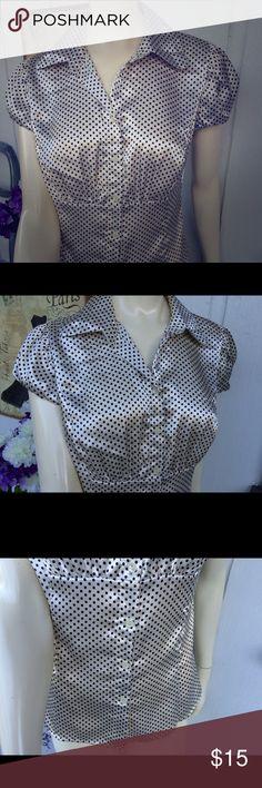 Beautiful Polka Dot Blouse Beautiful blouse. Polka dots is all I have to say :). Vixen Tops Blouses