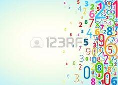 enfant informatique: Vecteur arc-en-fond coloré de numéros avec droit de copyspace