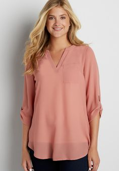 the perfect textured tunic blouse