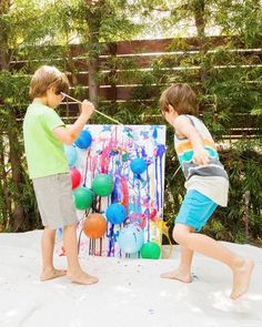 Pop Art - Make a big mess and get a MoMA-worthy art project in the process. Splatter paint never looked so good!