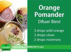 Orange Pomander diffuser blend PLUS 40 more Christmas essential oil diffuser recipes