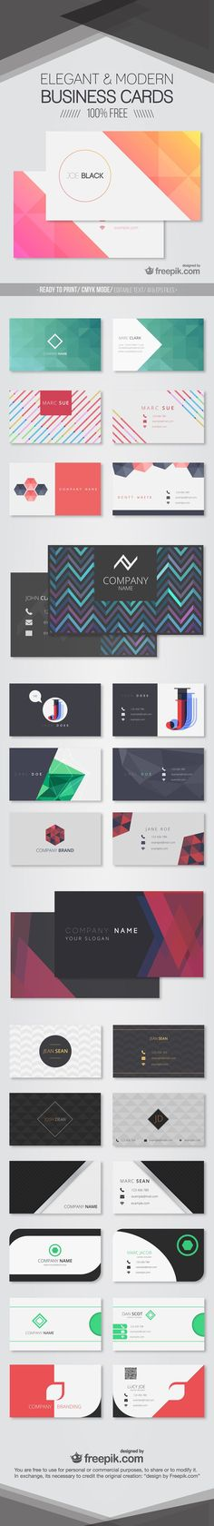 Freebie: 30 Elegant & Modern Business Card Templates (AI & EPS)