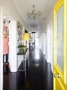 Brighten up a white hallway with a pop of colour