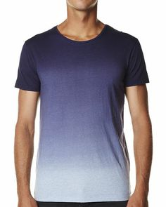 SILENT THEORY DIP DYE TEE - SKY BLUE MARLE ROYAL BLUE