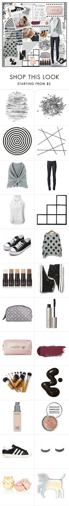 """""""all that glitters"""" by holly-elizabeth ❤ liked on Polyvore featuring WALL, Camp, Altreforme, CB2, AG Adriano Goldschmied, PAM, Ho Shop, Keds, Louis Vuitton and Ilia"""
