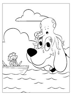 coloring page clifford coloring pages 28