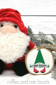 Christmas Gnome with Sign SVG Set - Festive and Fun Cut Files