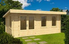 Baruda 53 log cabin, garden office, Log Cabins for sale, Free Delivery Log Cabins Uk, Garden Log Cabins, Log Cabins For Sale, Inside Celebrity Homes, Celebrity Houses, Bungalow, Tongue And Groove Cladding, Garden Workshops, Double Vitrage