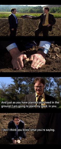 "The Office - ""Initiation"" #Dwight #Ryan"