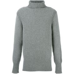 Ann Demeulemeester Grise turtle neck jumper (2.830 RON) ❤ liked on Polyvore featuring men's fashion, men's clothing, men's sweaters, grey, mens grey turtleneck sweater, mens turtleneck sweater, men's polo neck sweaters, mens grey sweater and mens gray sweater