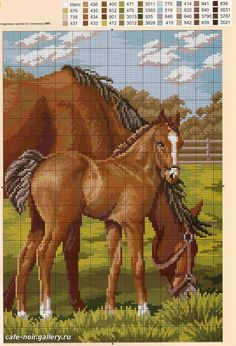 Horse and colt. Complete pattern found on: http://elypetrova.gallery.ru/watch?ph=GV5-bqNTi#feature=topscroll