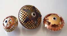 Metal beads by Jayne LeRette, BadgerBeads Bead Jewelry, Jewelry Design, Jewellery, Metal Clay, Metal Beads, Handmade Beads, Handmade Jewelry, Jewelry Boards, Bead Art