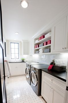 open shelves in laundry