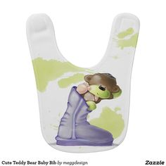Cute Teddy Bear Baby Bib