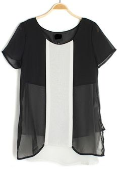so stunning, color block black and white