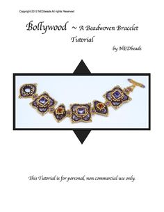 Beadweaving Tutorial - Bollywood Bracelet, Pendant and Earrings. $12.50, via Etsy.