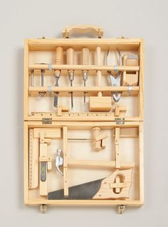 Child's wooden tool kit