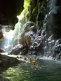 Body Rafting at Green Canyon, West Java