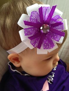 Baby girl headband, baby girl bow, baby Holy Cross headband