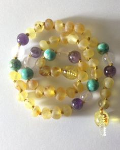 Baby Zen: Child Size Baltic Amber Teething Necklace {meadow}