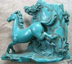 gratis verzending antiek collectibles sculpturen van tibet turquoise paard potlood vaas ambachten geschenken